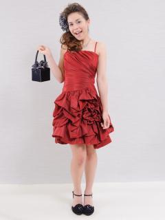 ドレスギャラリー蘭_視線の中心に。真紅のバラのようなミニドレス。