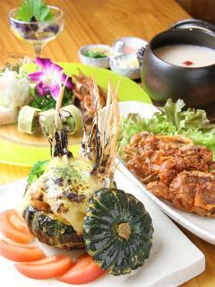 お粥と創作中華料理の店 小槌_コース料理一例