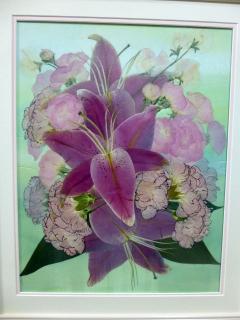 ショップ&サロン花*花_両親贈呈用の花束を押し花に