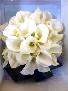ショップ&サロン花*花_カラーのブーケをプリザーブドフラワーに