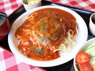 cafe Noah_ハンバーグミートスパゲティランチ