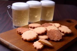 米・糀 洋菓子 MINOV_ビアゼリー(280円)&おつまみクッキー(500円)