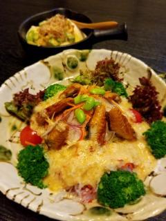 味晴れ_鰻サラダ&ネバネバ豆腐
