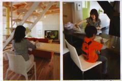 ≪No.3≫デザイン階段下の家事&勉強机|面倒なアイロン掛けは、リビングで楽しく! 開放的な空間を演出する...