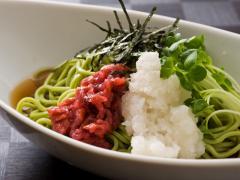 DOLCI cafe_梅おろし茶そば (温/冷)