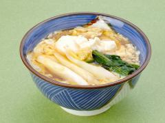 豆腐けいらんそば…920円|地豆腐、白ねぎ、青味、玉子、生姜