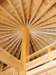 2階リビングの天井です。竣工時の見学会で最もご来場の方々が「見たかった!」とおっしゃった、名付けて「...