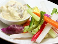 スティック野菜のアンチョビディップ