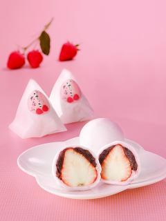 びっくり苺大福…280円|地元の苺、紅ほっぺを使用してます。