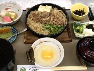 うおいち特製 牛肉すき焼き鍋セット1,700円。