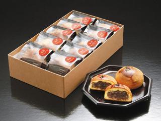 あんぱんのお饅頭…(1個)151円|見た目あんぱんのような焼きまんじゅう。パンの材料の一部である酵母と強...