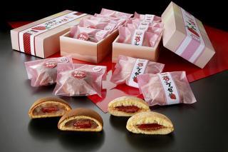 兎月園_苺のブッセ・苺のあんぱんのお饅頭