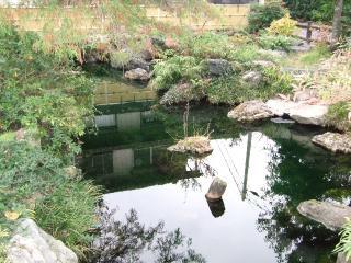 西之川ハリヨの池広場自噴水の写真