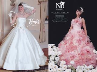 人気ウェディングドレス『Barbie』&『Natsuki Doll』|クラシカルな素材とデザインが特徴のバービー。(写真左)高級...